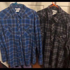 Wrangler Flannel Shirts XXL $25 both $12.50 just 1